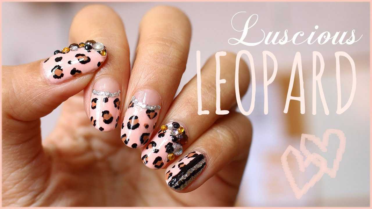 Luscious Leopard Nail Art Tutorial Youtube