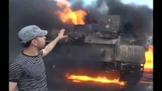 """Syria - Idlib - Free Syrian army destroyed a tank """"T-72"""" (P 2) 22/05/2012  """"Deutsch Unten"""""""