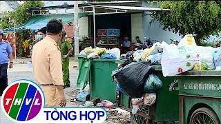 THVL | Ẩn họa tai nạn giao thông từ thùng rác cặp quốc lộ