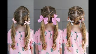3 Quick Summer Pigtail Styles | Q's Hairdos