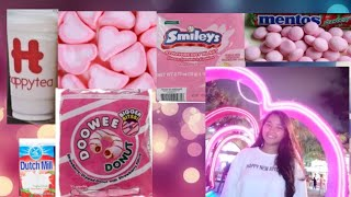 Gambar cover I only ate PINK FOOD Challenge in 24 hours | Lindsay🔥