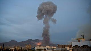 التحالف العربي يستهدف معسكر الحفا وعطان ومواقع للحوثيين في صنعاء