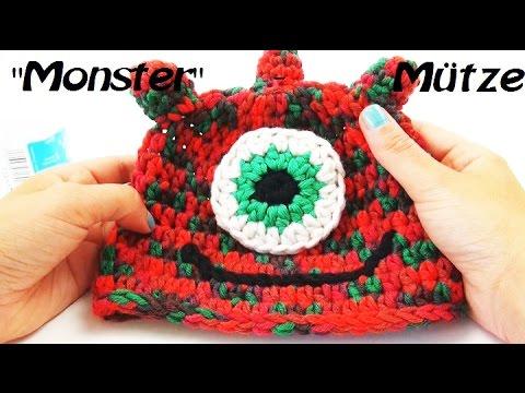 Mütze häkeln - Hatnut fresh | Eva häkelt eine Monstermütze ...