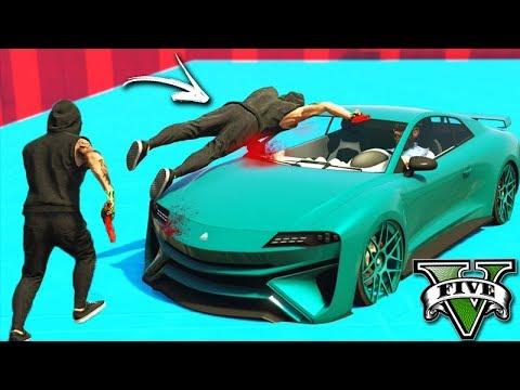 GTA V Online: PARKOUR vs NOVO CARRO iMORGON - MUITOS KILLS!!!