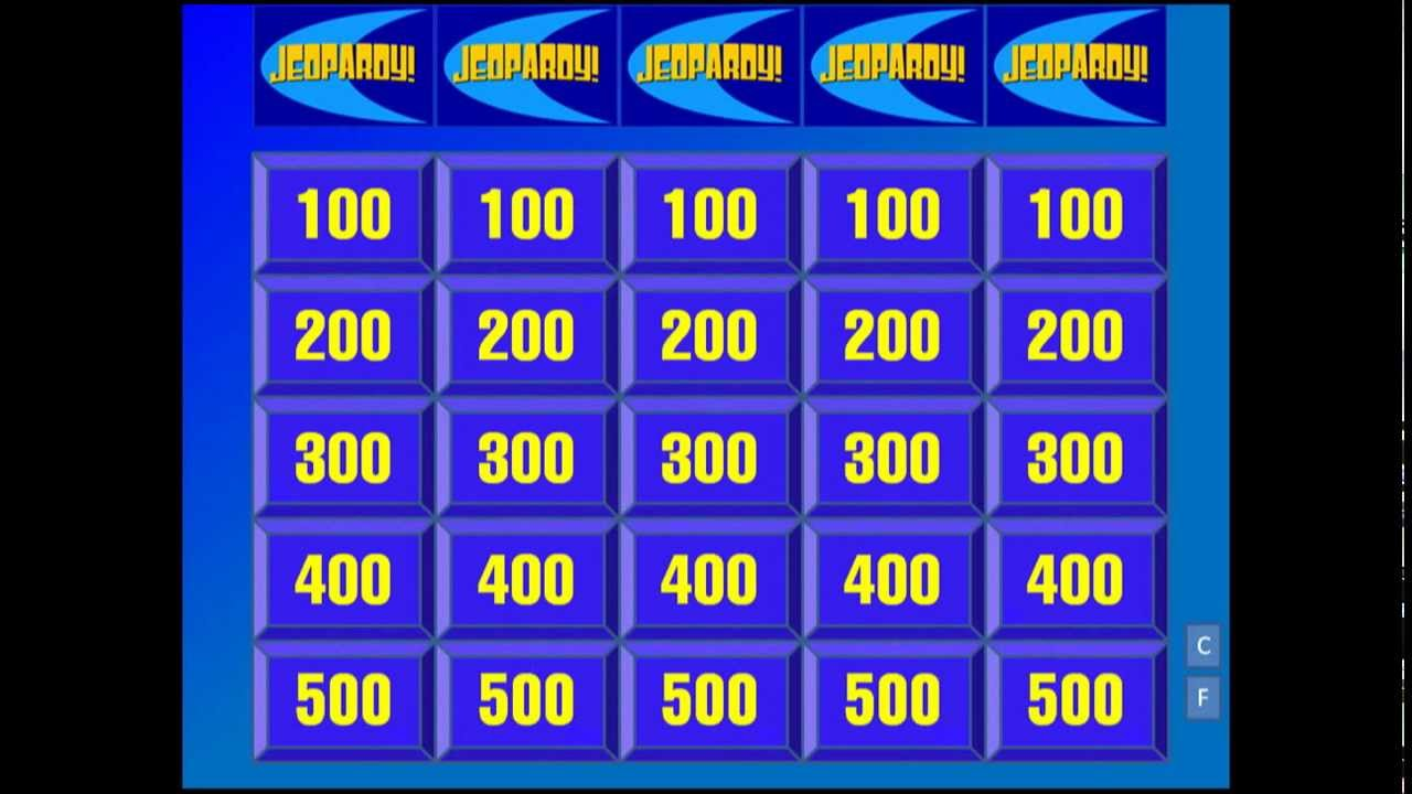 my jeopardy powerpoint (u.s. history version) - youtube, Powerpoint templates