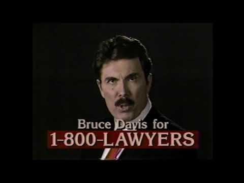 1-800-LAWYERS ft. Bruce Davis ad, 1994