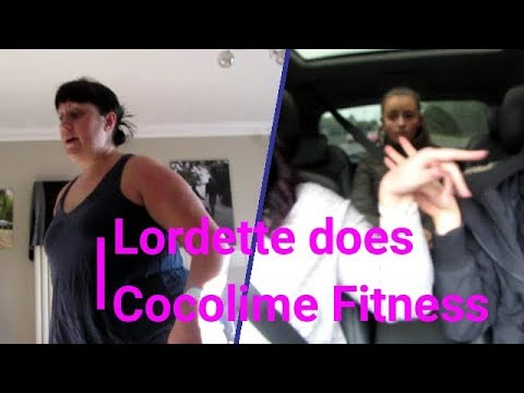 Lordette does Cocolime fitness workout.