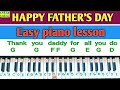 I love my daddy | piano lesson | Happy father's day song 2021 | easy step by step |