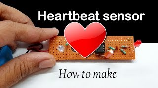 heartbeat sensor circuit using lm358 | electronic projects | how to make