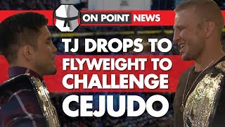 TJ Dillshaw Drops To Flyweight, Challenges Cejudo. Cerrone vs Perry, UFC 230 Does Low Buys