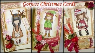 "Gorjuss ""Dressed Up For Santa"" Christmas Cards - WOC"