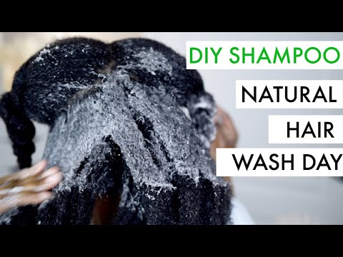 Natural Hair Wash Day with DIY Sulfate-Free Shampoo | JumieAnne