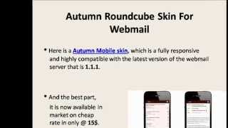 Responsive Roundcube Autumn Mobile skin for Webmail