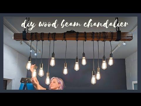 STUNNING RECLAIMED WOOD BEAM CHANDELIER | The Diaries of DIY Danie