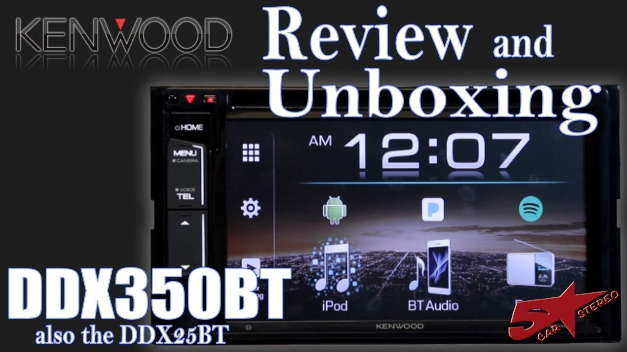 Kenwood S New 2018 Ddx350bt Review And Unboxing Youtube