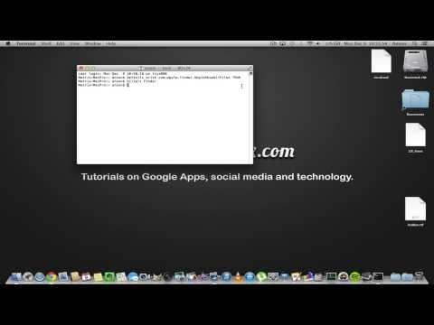 How to View / Show Hidden Files on Mac OS X Mavericks 10.9 and Below