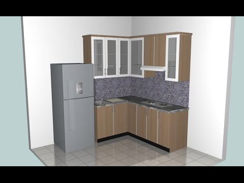 Make A Small Kitchen Using Google Sketchup Youtube