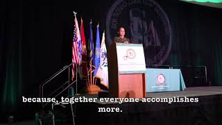 Young Marines 1st Sgt Sophia M. Righthouse, Leadership Speech, JWLS, June 21, 2018. (Captions)