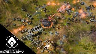 Ashes of the Singularity Gameplay - 3v3 game to 3v1