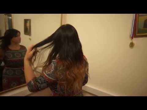 Наращивание волос на очень короткие волосы , омбре .