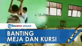 Viral Video Siswa SMK di Sigli Ngamuk dan Hancurkan Meja serta Kursi