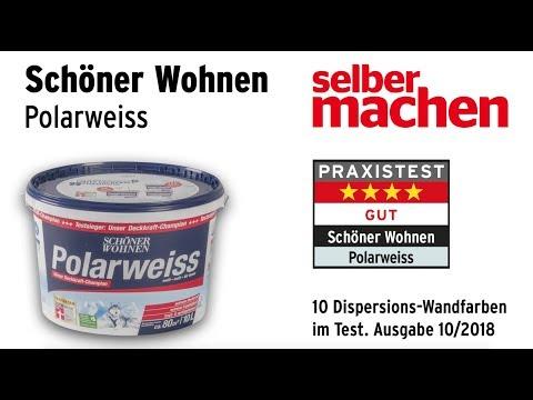 Wandfarbentest Schoner Wohnen Polarweiss Youtube