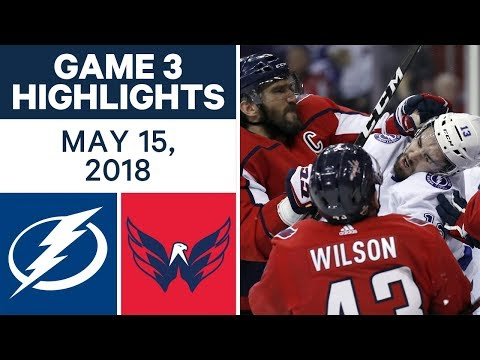 NHL Highlights | Lightning vs. Capitals, Game 3 - May 15, 2018