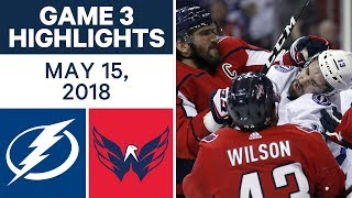 NHL Highlights | Lightning vs. Capitals, Game 3 - May 15, 2018