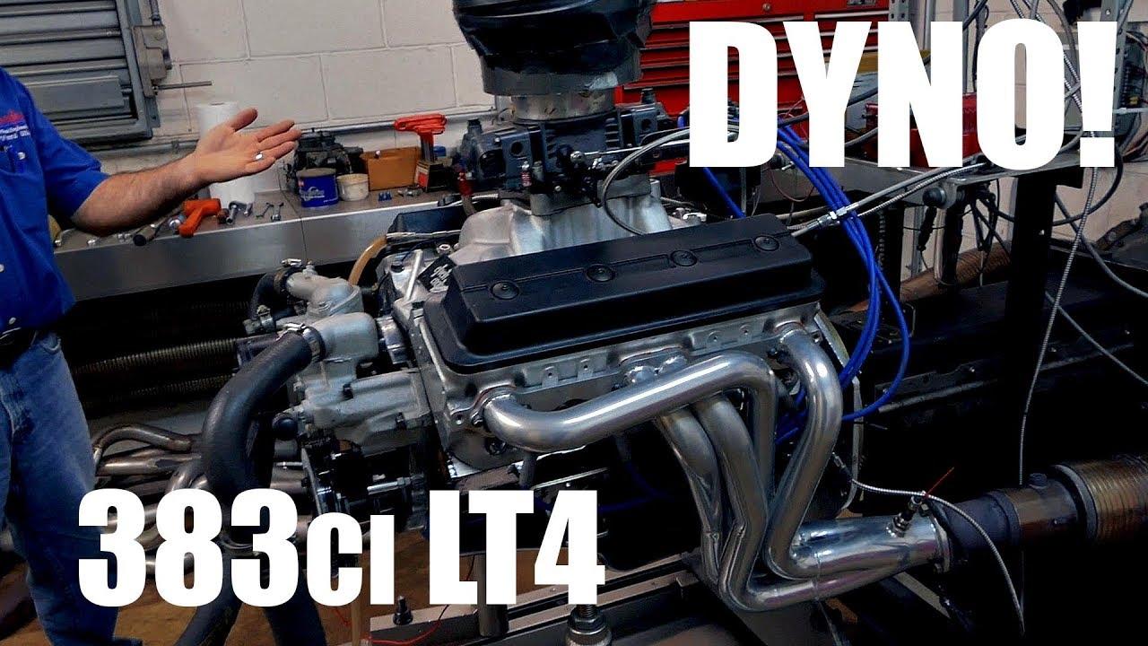 383ci LT4 / LT1 SBC on the dyno making over 480hp