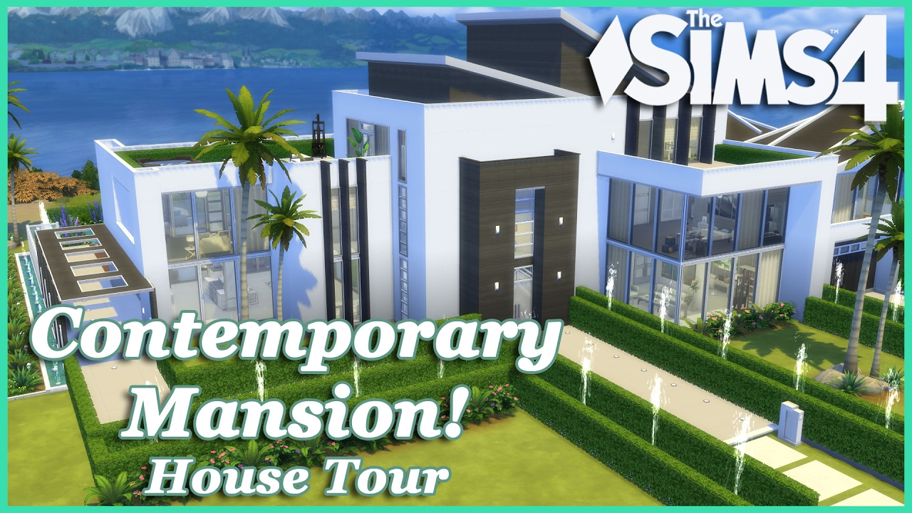 The sims 4 contemporary mansion house tour