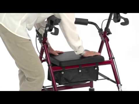 Adjustable Seat Height Rollator 3