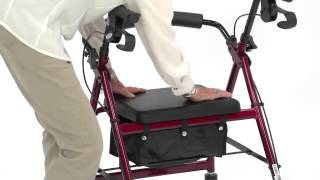 Drive Medical - Aluminum Rollator With Fold Up And Removable Back Support