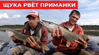 Щука рвёт приманки в летнюю жару | Рыбалка на спиннинг