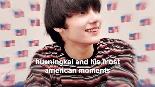 hueningkai and his most american moments