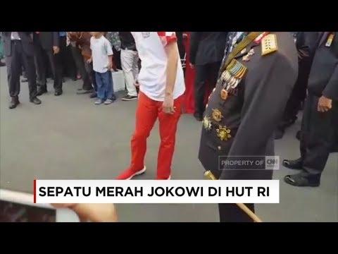 Sepatu Merah Jokowi Di HUT RI Ke-73
