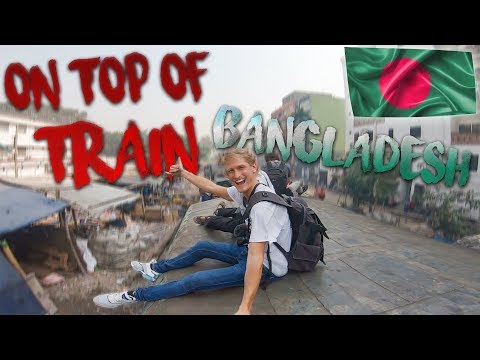 Riding on top of a Train in Bangladesh 🇧🇩