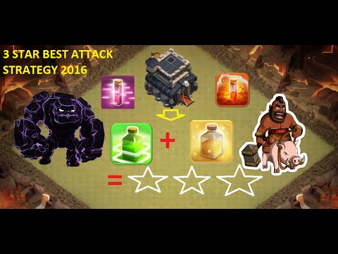 Th9 attack strategy 3 star gowipe hog town hall 9 clan war base