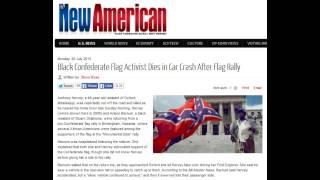 Black Confederate Flag Activist Dies in Car Crash After Flag Rally