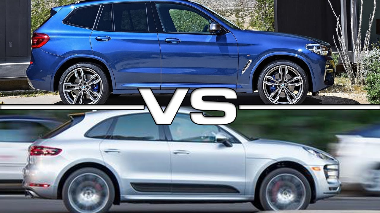 Bmw X1 Vs X3 2017 >> 2018 BMW X3 M40i vs 2017 Porsche Macan Turbo - YouTube