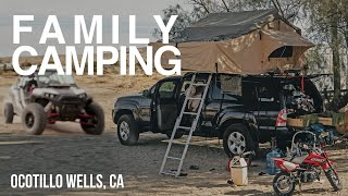 Family camping in the desert, And filming a commercial. Ocotillo Wells. Vlog #239