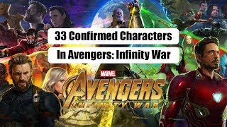 33 Confirmed Characters In Marvel Avengers: Infinity War