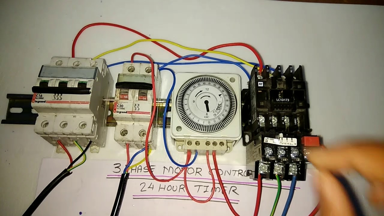 Dol Starter With Timer - Wiring Schematics