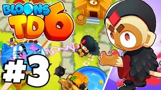 *NEW* Druid Monkey Tower Is INSANE! - Bloons Tower Defense 6 Part 3 (BTD 6 IOS/Android)