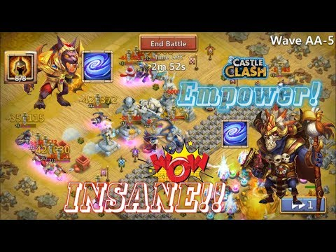 Empower On Anubis And Wallawalla INSANE OMG! Castle Clash