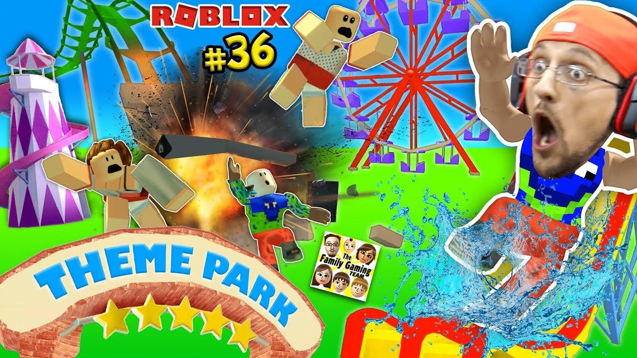 Theme Park Tycoon Roller Coaster Roblox Fail Accident Fgteev