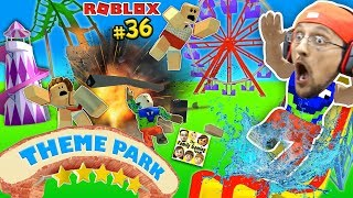 Download THEME PARK TYCOON ! Roller Coaster Roblox Fail Accident! FGTEEV Amusement Park Showcase Funny Glitch Mp3 and Videos
