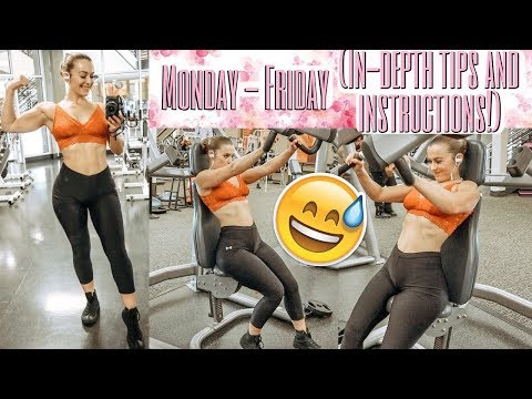 Weekly Workout Schedule For Women | Monday-Friday #fullweekofworkouts