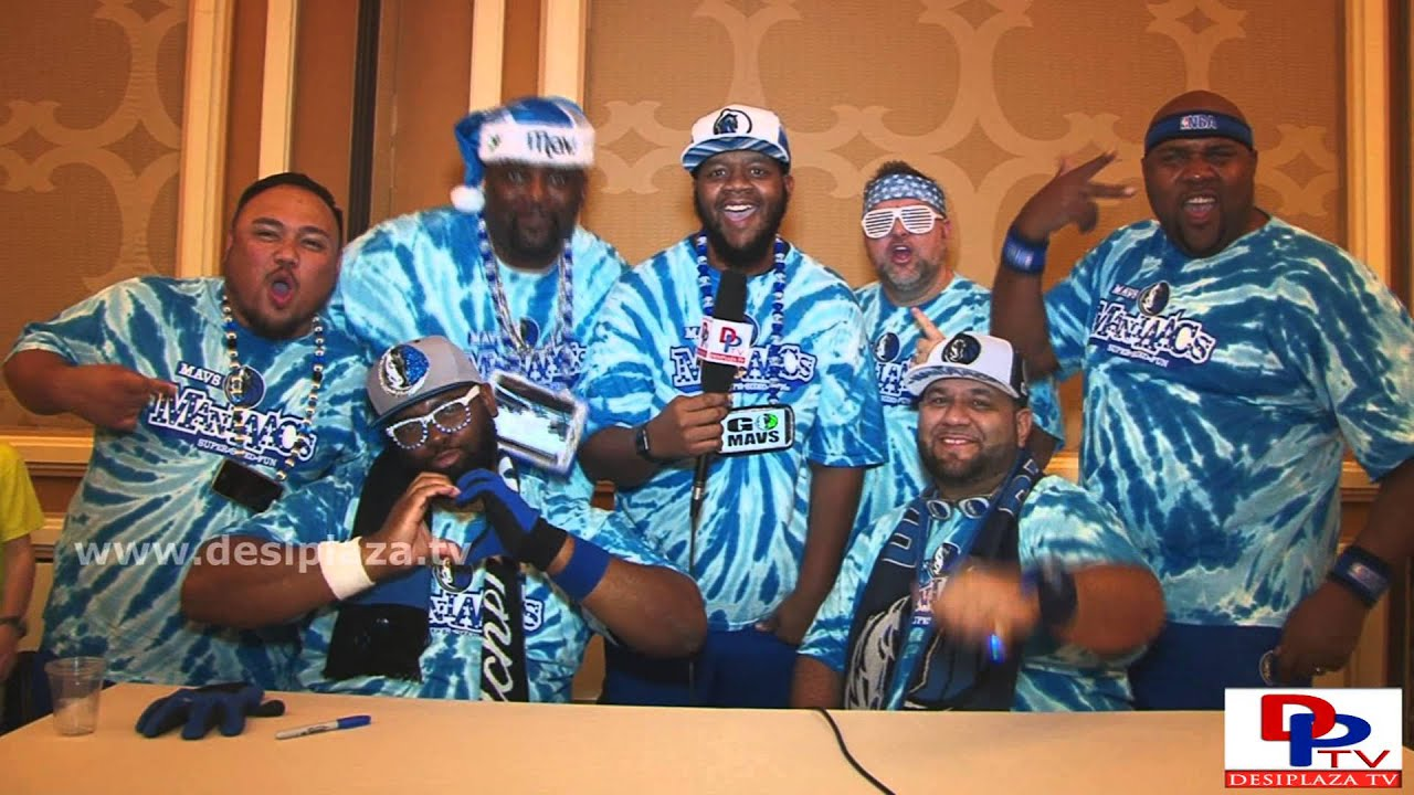 "Dallas Mavericks ""Maniacs"" speaking to Desiplaza TV at Christmas Party."
