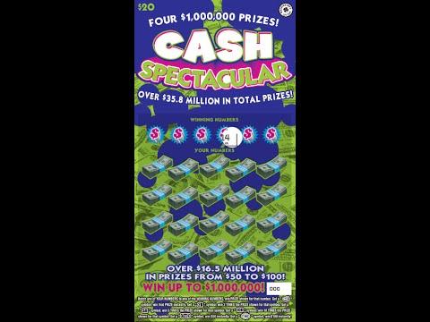$20 Cash Spectacular - Washington Lottery - Scratcher