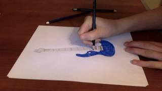 Electric Guitar Drawing Tutorial